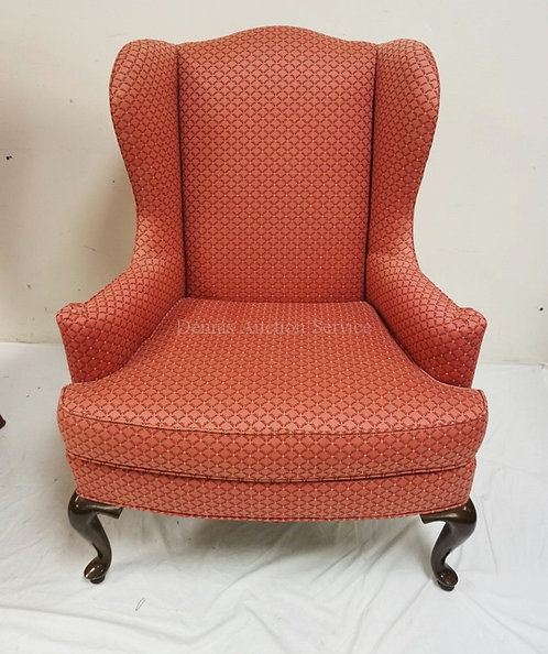 DREXEL HERITAGE UPHOLSTERED WING CHAIR.