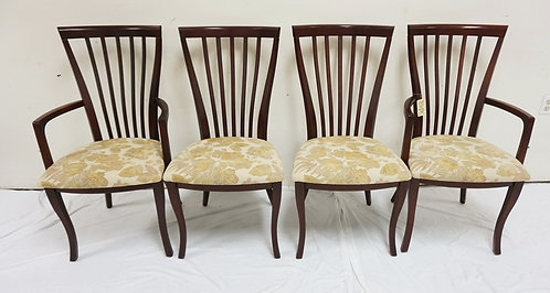 NEW FURNITURE LIQUIDATION, SET OF 4 SPINDLE BACK DINING CHAIRS. 2 ARM AND 2 SIDE