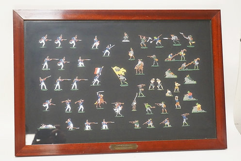 SET OF FRAMED LEAD SOLDIERS DEPICTING *EPOCHE NAPOLEON I*. 24 X 16 1/4 INCH FRAM