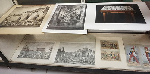 7 PIECE LOT OF ETCHINGS.