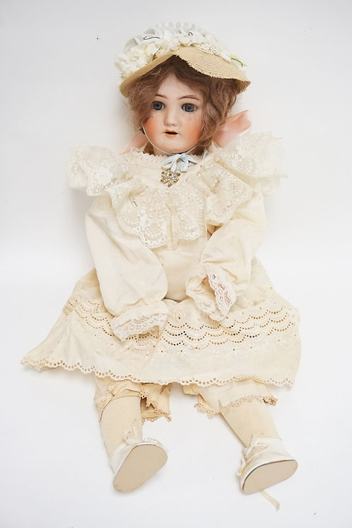 SIMON HALBIG BISQUE HEAD DOLL. 26 � IN H