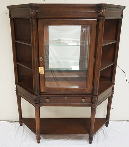 NEW FURNITURE LIQUIDATION CHARLESTOWN SQUARE BY BROYHILL DISPLAY CABINET WITH LI