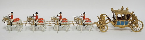 BRITAINS LEAD CORONATION COACH MEASURING 20 1/2 INCHES LONG.