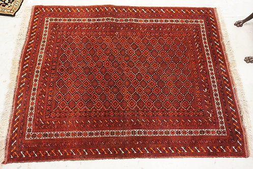 1007_HAND WOVEN ORIENTAL RUG MEASURING 6 FT 4 X 4 FT.