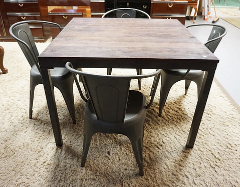 RESTORATION HARDWARE TABLE & 4 CHAIRS.