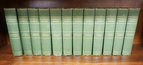 12 VOLUMES WAVERLY NOVELS. JOHN WANAMAKER