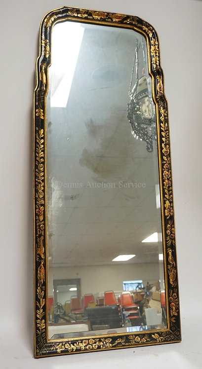 CHINOISERIE DECORATED MIRROR. 20X 48 INCHES.