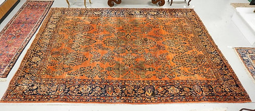 ANTIQUE ORIENTAL ROOM SIZE RUG MEASURING 13 FT 3 INCHES X 10 FT 2 INCHES. HAS A