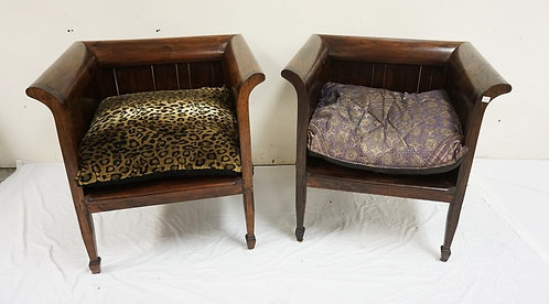 PAIR OF ARMCHAIRS.