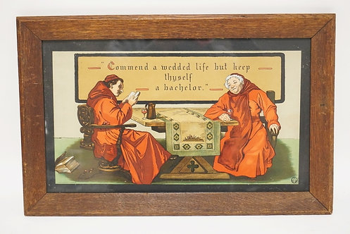 TABER-PRANG 1904 ARTS & CRAFTS LITHOGRAPH OF CARDINALS. *COMMEND A WEDDED LIFE B