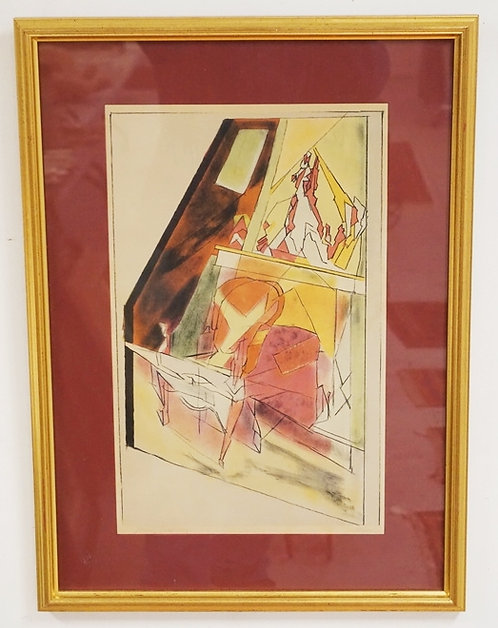 JAQUES VILLON *FAUTEUIL* COLOR LITHO. PENCIL SIGNED & NUMBERED 126/200. 12 1/4 X