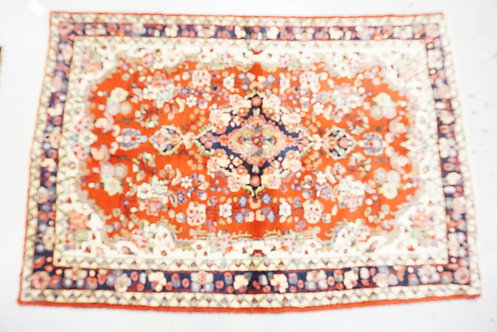 1004_HAND WOVEN ORIENTAL RUG MEASURING 6 FT 7 X 4 FT 7 INCHES.