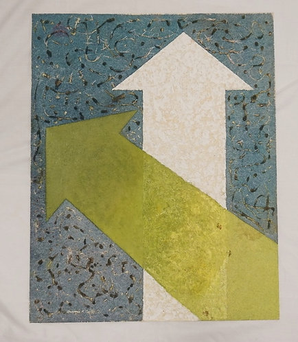 1123_CLARENCE H. CARTER PAINTING ON FIBER PAPER. UNTITLED. 20 X 25 INCHES. SIGNE