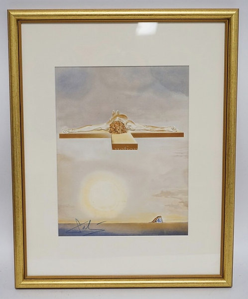 SALVADOR DALI PRINT, 9 1/8 X 11 3/4 INCH SIGHT SIZE. NO EDITION NUMBERS.