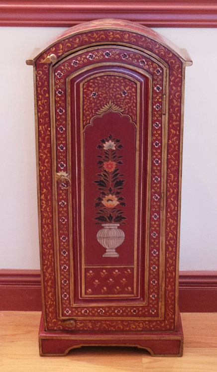 PAINT DECORATED CABINET. 40 X 18 INCHES.