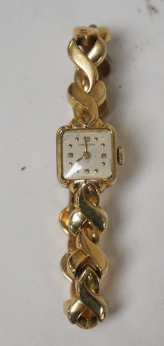 14K GOLD LONGINES LADIES WRIST WATCH.10 DWT TOTAL. RUNNING CONDITION (NO GUARANT