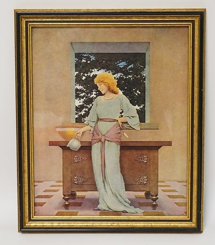 MAXFIELD PARRISH ILLUSTRATIOIN FROM THE KNAVE OF HEARTS, VIOLETTA IN THE ROYAL K