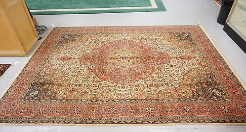 TURKISH ROOM SIZE RUG. HAND WOVEN WOOL. 9 FT X 12 FT 2 INCHES.
