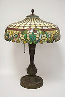 Antique Duffner & Kimberly Leaded Table Lamp