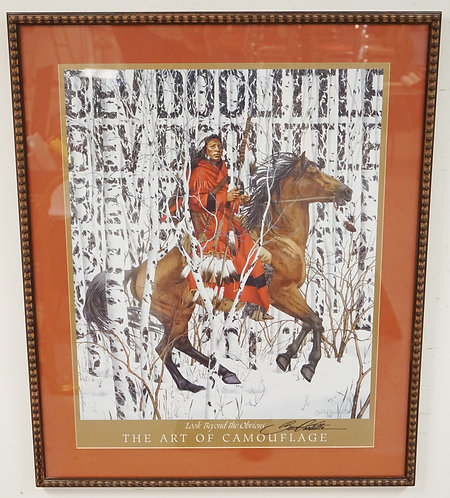 BEV DOOLITTLE  HAND SIGNED NATIVE AMERICAN THEMED POSTER TITLED *LOOK BEYOND THE