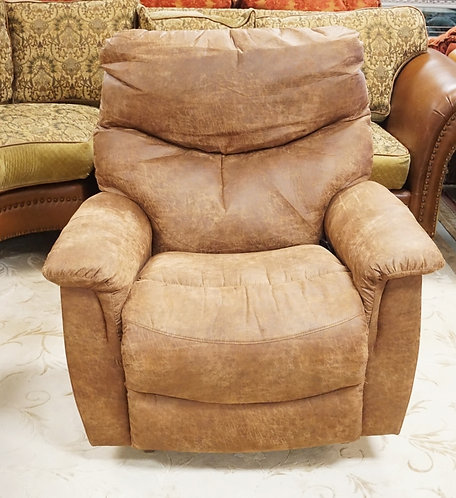 LAZY BOY FAUX LEATHER ELECTRIC RECLINER.