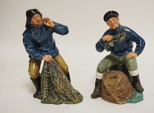 LOT OF 2 ROYAL DOULTON PORCELAIN FIGURES. *THE LOBSTER MAN* AND *SEA HARVEST*. T