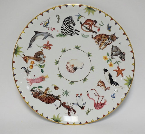 LYNN CHASE *HARMONY* ROUND PLATTER MEASURING 14 1/8 INCHES IN DIA.