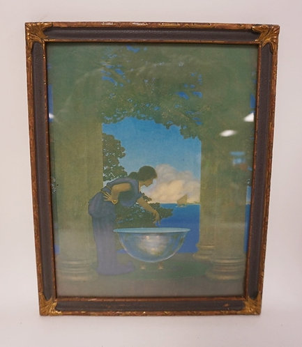 MAXFIELD PARRISH PRINT *CIRCES PALACE*, ALL ORIGINAL. 8 1/2 IN X 11 IN