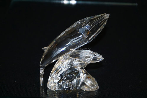 1016_SWAROVSKI CRYSTAL *CARE FOR ME (THE WHALES)*. 1992 FIGURE. COMES WITH BOX A