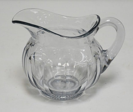 HEISEY COLONIAL ICE WATER PITCHER MEASURING 7 3/8 INCHES HIGH.