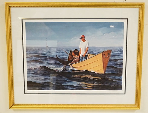 RICHARD FIEDLER GICLEE PRINT TITLED *DORY TENDER*. EDITION 8 OF 50. PENCIL SIGNE