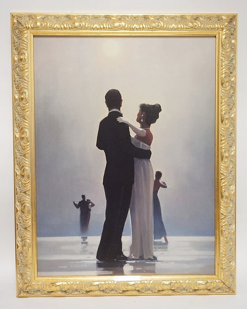 PRINT AFTER JACK VETTRIANO TITLED *DANCE ME INTO THE NIGHT*. 23 X 29 1/2 INCHES.