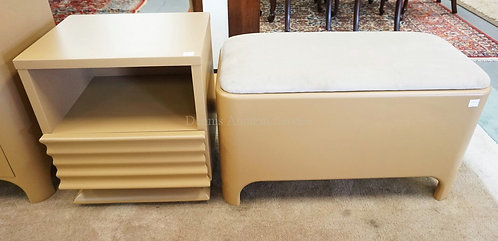 2 PIECES OF MODERN FURNITURE. A NIGHTSTAND AND A BLANKET CHEST.