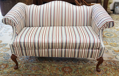 PENNSYLVANIA HOUSE HUMP BACK LOVESEAT. 58 IN WIDE