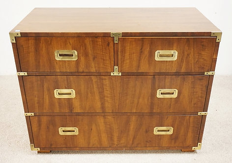 HENREDON BRASS MOUNTED 4 DRAWER CHEST. 39 INCHES WIDE. 30 INCHES HIGH.