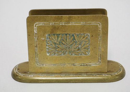 BRADLEY & HUBBARD BRONZE LETTER HOLDER WITH RELIEF DECORATED PANELS. 7 INCHES WI