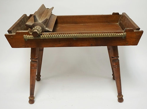 *REIDS NO.4 ORIGINAL PHILA. BUTTER WORKER*. A BUTTER WORKING TABLE ON TURNED LEG