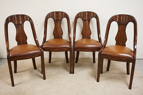 SET OF 4 THEODORE ALEXANDER SIDE CHAIRS.