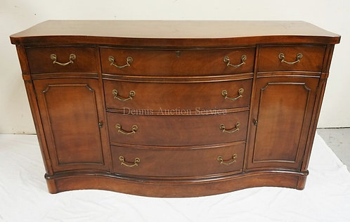 MAHOGANY SIDEBOARD WITH 6 DRAWERS, 2 DOORS AND SERPENTINE FRONT. 60 IN WIDE, 36