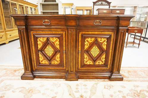 MAITLAND SMITH INLAID SIDEBOARD. 2 DRW, 2 DR. 72 IN WIDE, 44 1/2 IN H