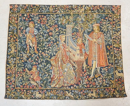 BELGIAN TAPESTRY. 4 FT 3 INCHES X 5 FT 1 INCH.