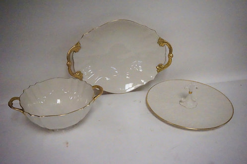 3 LENOX SERVING PIECES. LARGEST PIECE MEASURING 16 1/2 X 11 3/4 INCHES OVAL.