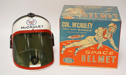 IDEAL COL. MCCAULEY *MEN INTO SPACE* SPACE HELMET WITH ORIGINAL BOX. FROM THE SH