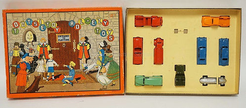 VINTAGE TOOTSIETOY MOTORS *ROL-EZY TOYS - ENTRANCE TO PLAYTIME* BOXED SET #5149.