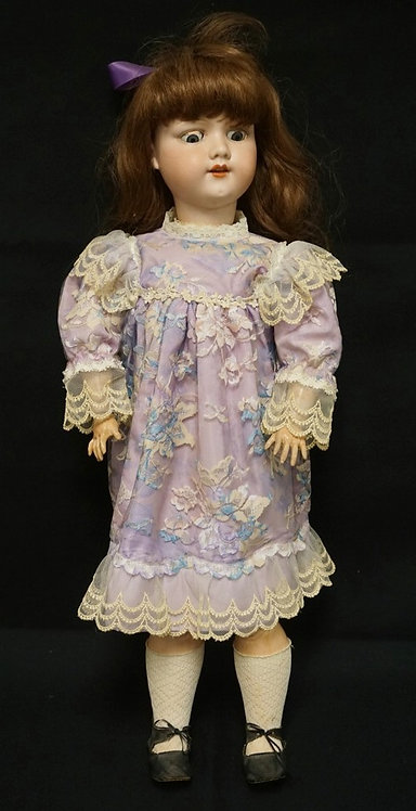 30 INCH SIMON & HALBIG 1079 BISQUE HEAD DOLL,COMPOSITION BJ BODY, OLD WIG/NEW CL