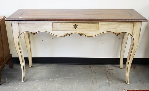 HEKMAN CONSOLE TABLE WITH ONE DRAWER.