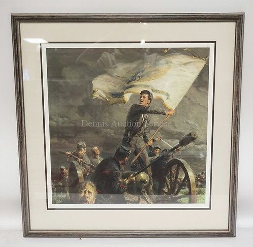 TIM LOVELL SIGNED & NUMBERED CIVIL WAR PRINT. EDITION #1031/1500. 28 1/4 X 29 IN