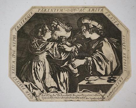 BERNARDINO CAPITELLI (1589-1639) AFTER RUTILIO MANETTI (1571-1639) *LOT AND HIS
