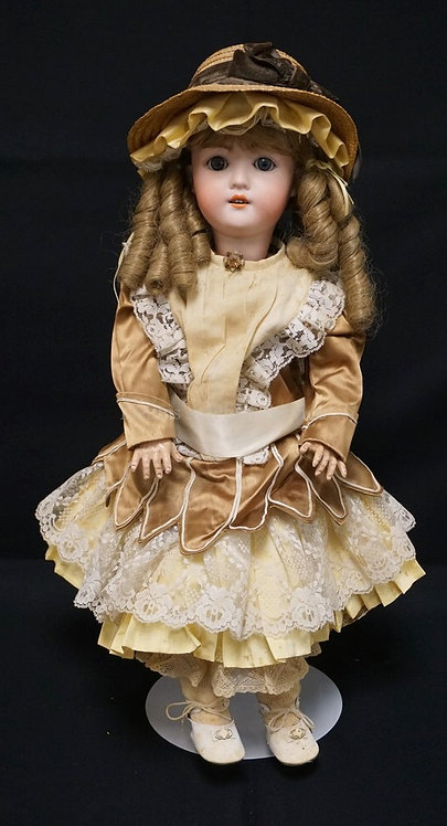 26 INCH MY GIRLIE BISQUE HEAD DOLL, COMPOSITION BJ BODY, NEW WIG/CLOTHES, MARKED