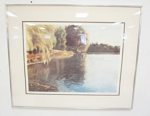 STANLEY ANDERSON ARTIST PROOF PRINT TITLED *A QUIET TIME*. PENCIL SIGNED. 23 X 1